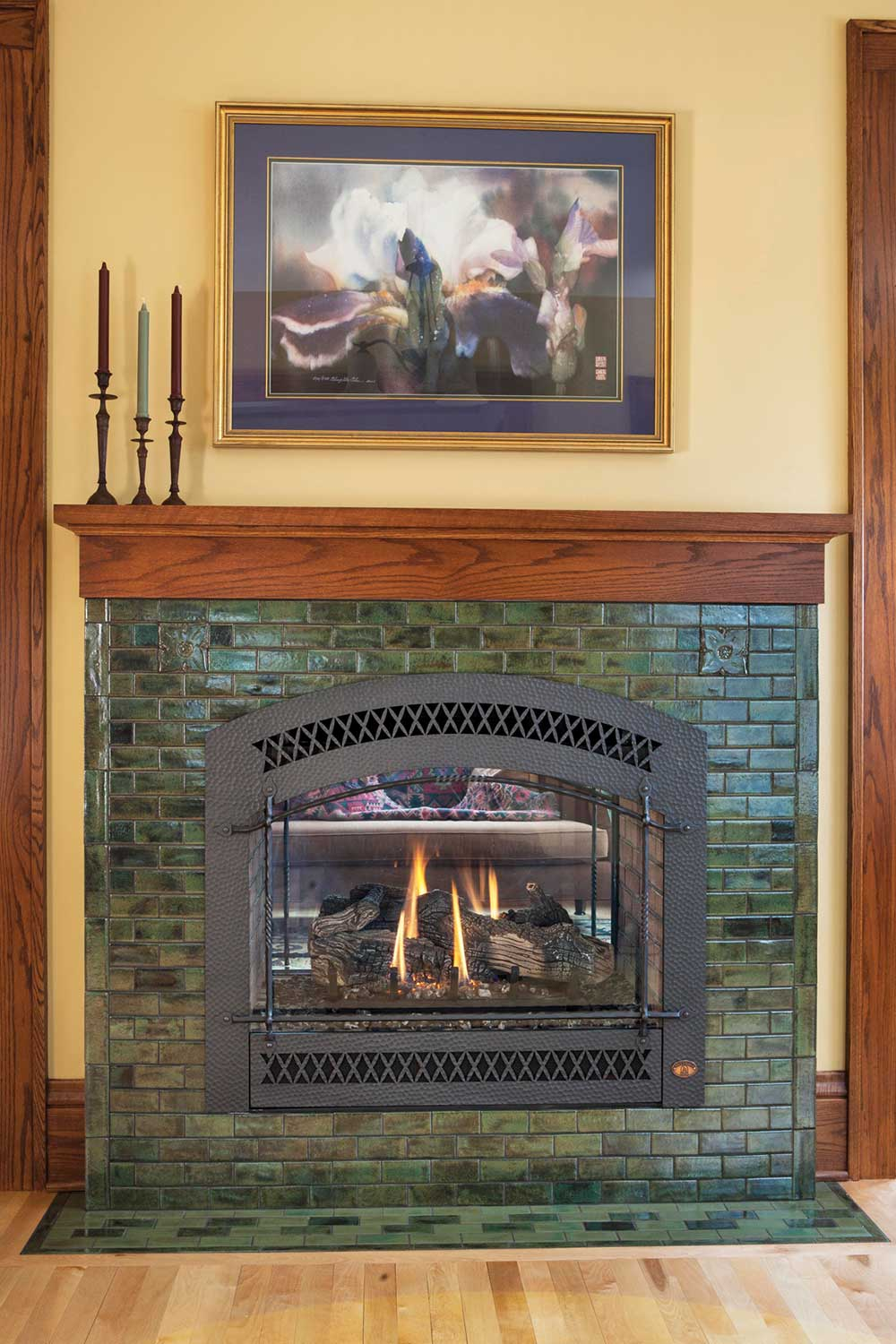 fireplace tile arts crafts hawthorn