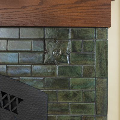 Green Arts And Crafts Fireplace Tile Hawthorn Accent