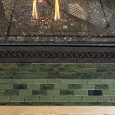 Green Arts And Crafts Fireplace Tile Hawthorn Hearth