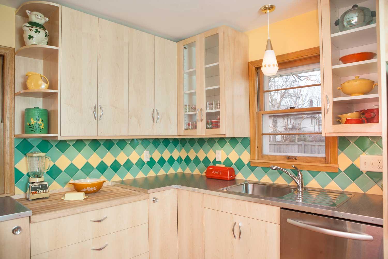 On Pointe Mid Century Modern Kitchen Tile Backsplash