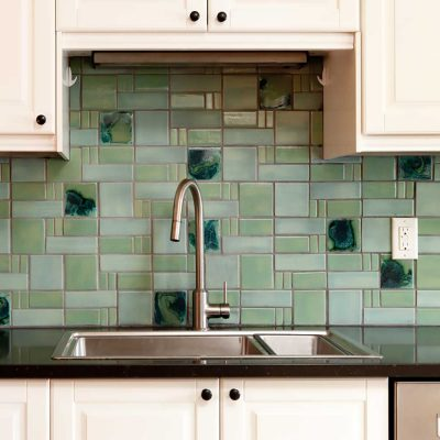 Kitchen Tile Backsplash Aquila Sink