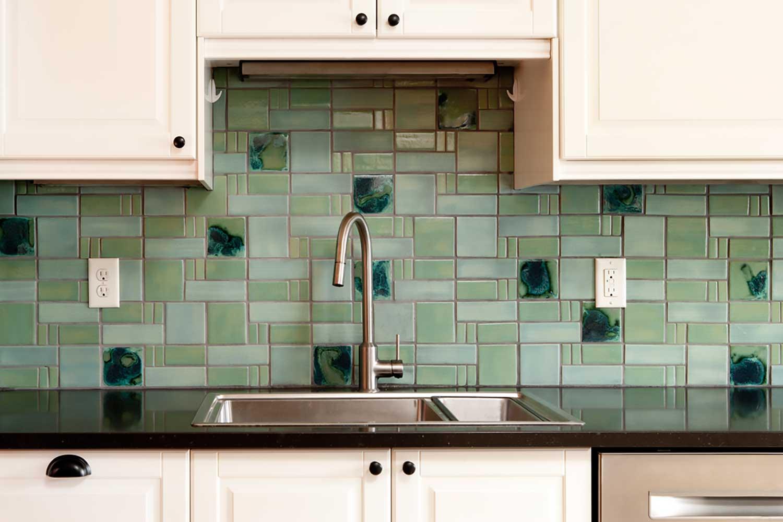 Handmade Mid Century Modern Tile Backsplash