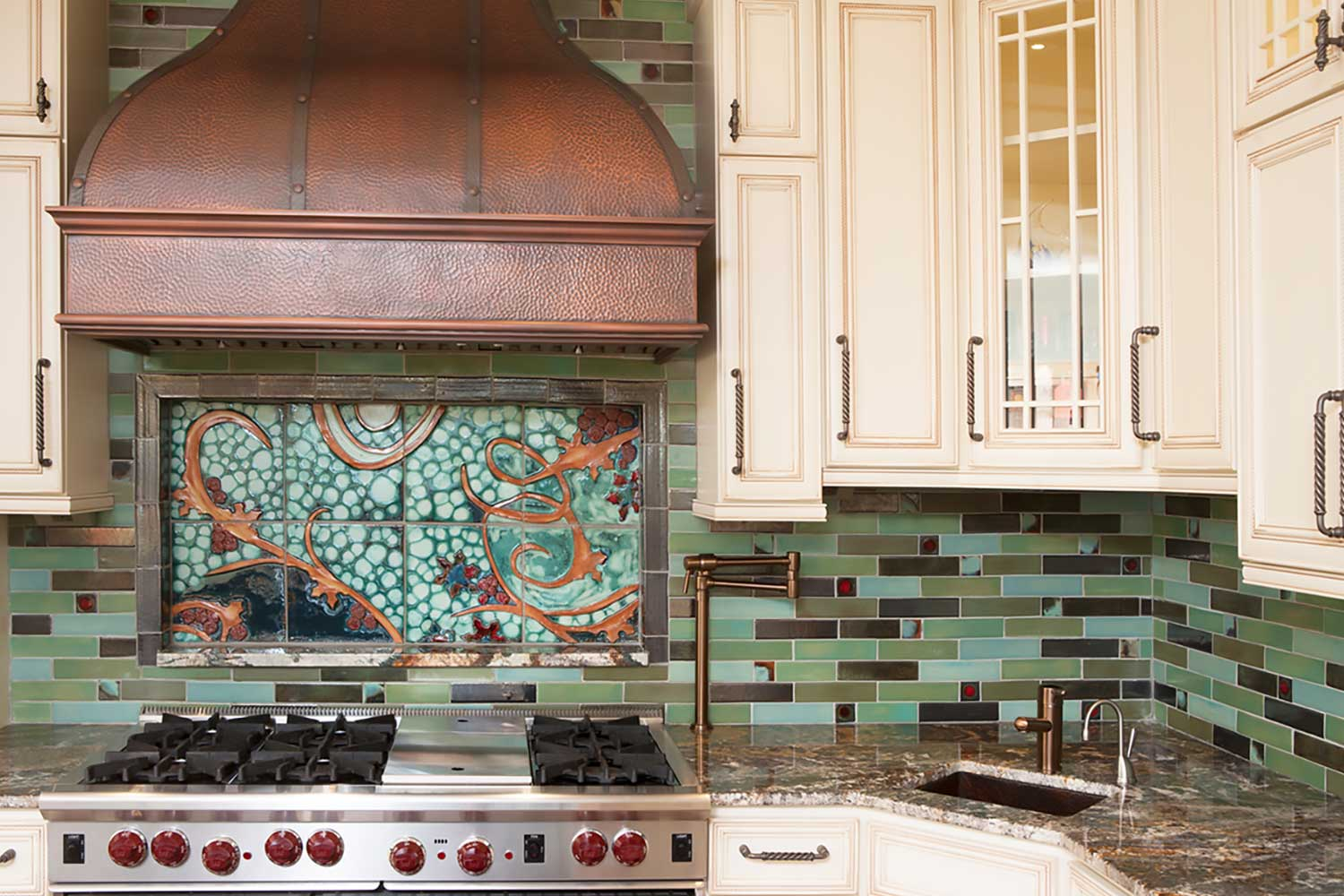 Tile Mural Kitchen Backsplash By Clay Squared To Infinity