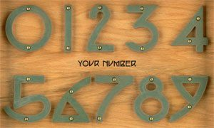 Medium house numbers