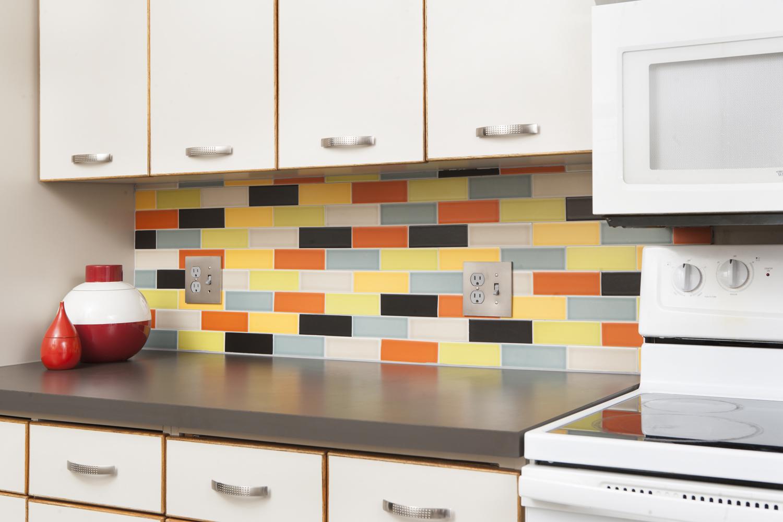 - Atomic Bond Mid Century Modern Tile Kitchen Backsplash
