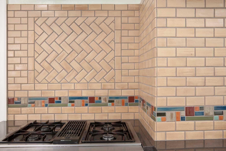 Broadway Kitchen With Mississippi Border Tile Backsplash