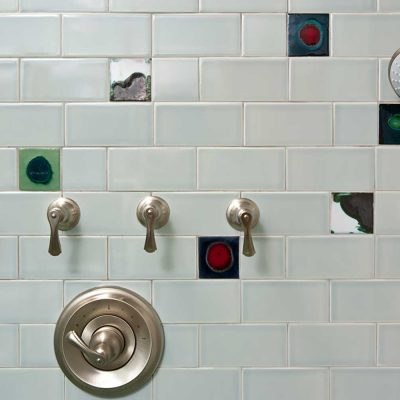 Bathroom Subway Tile Skyline Detail