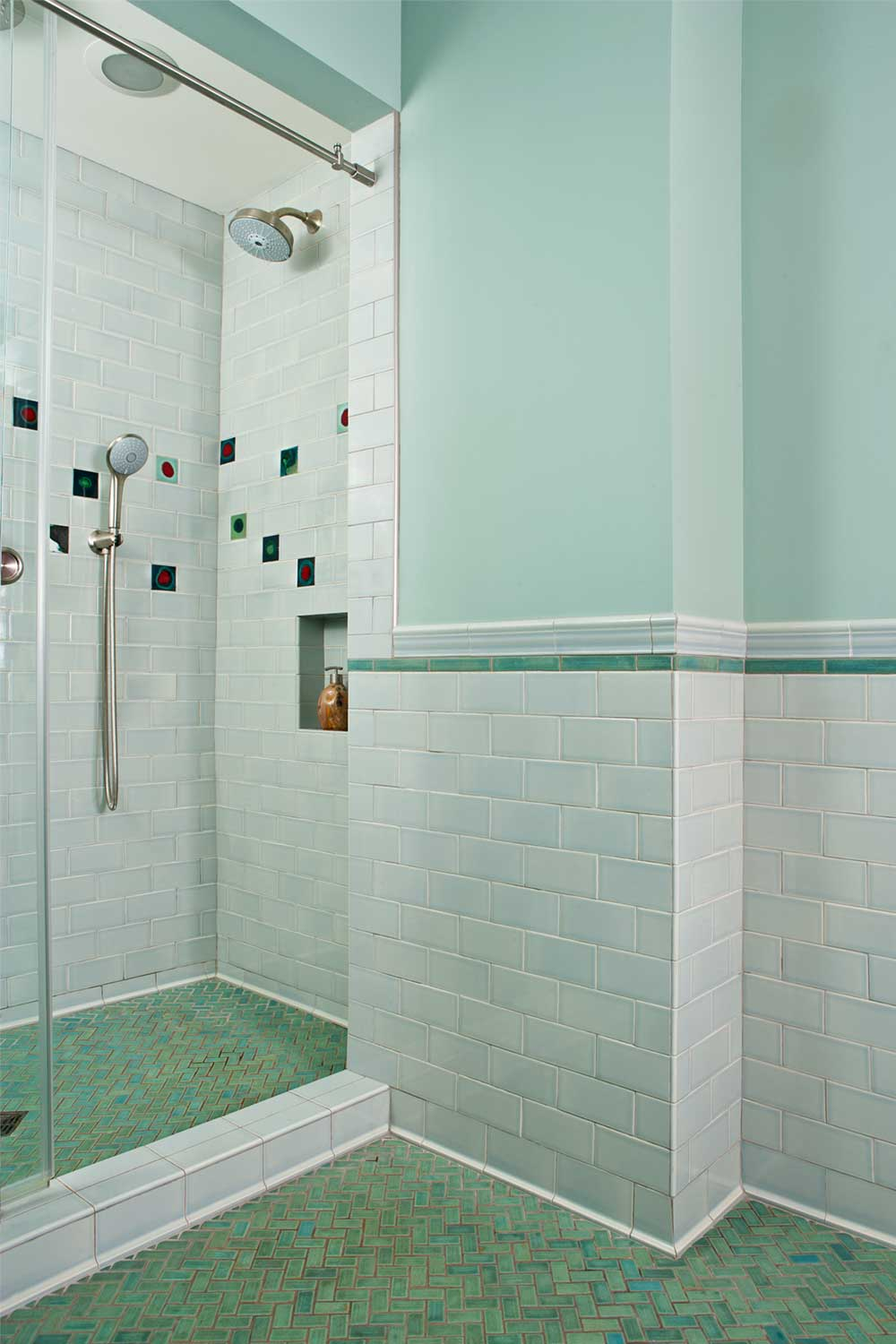 bathroom subway tile skyline