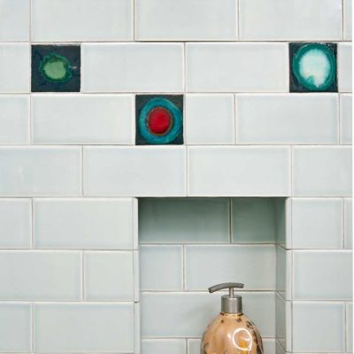 Bathroom Subway Tile Skyline Niche