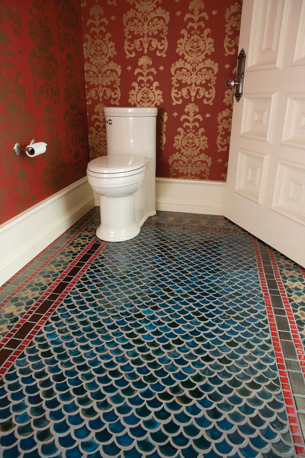 Bathroom Tile Floor Installation