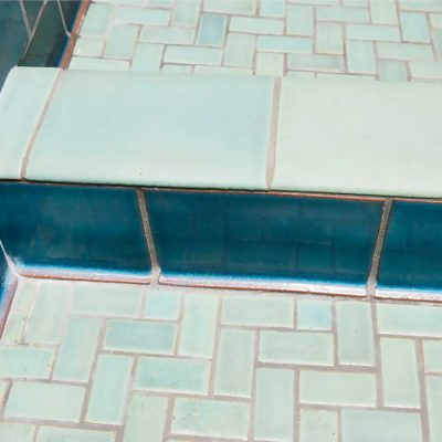 bathroom subway tile blue gem double nose