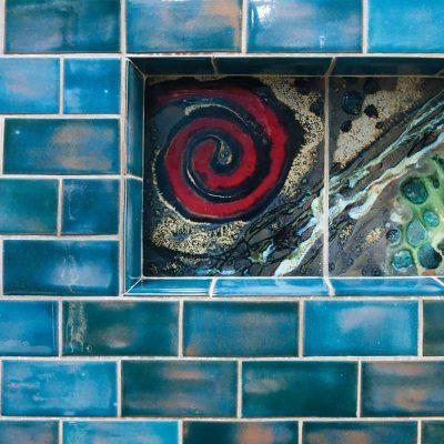 bathroom subway tile blue gem niche