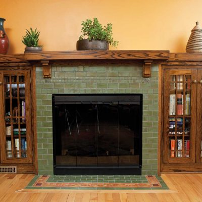 tile fireplace belmont woodwork