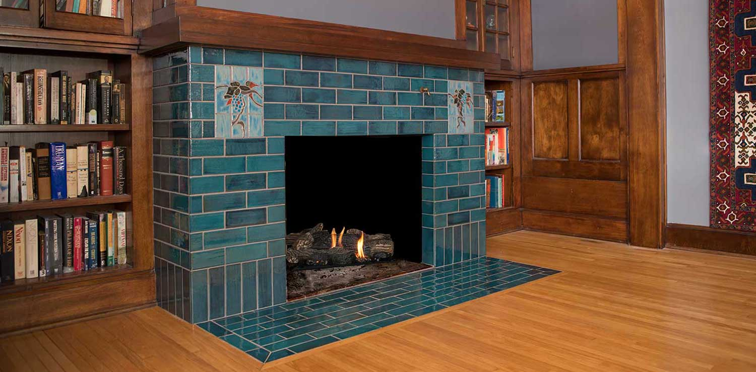 Mission Tile Fireplace