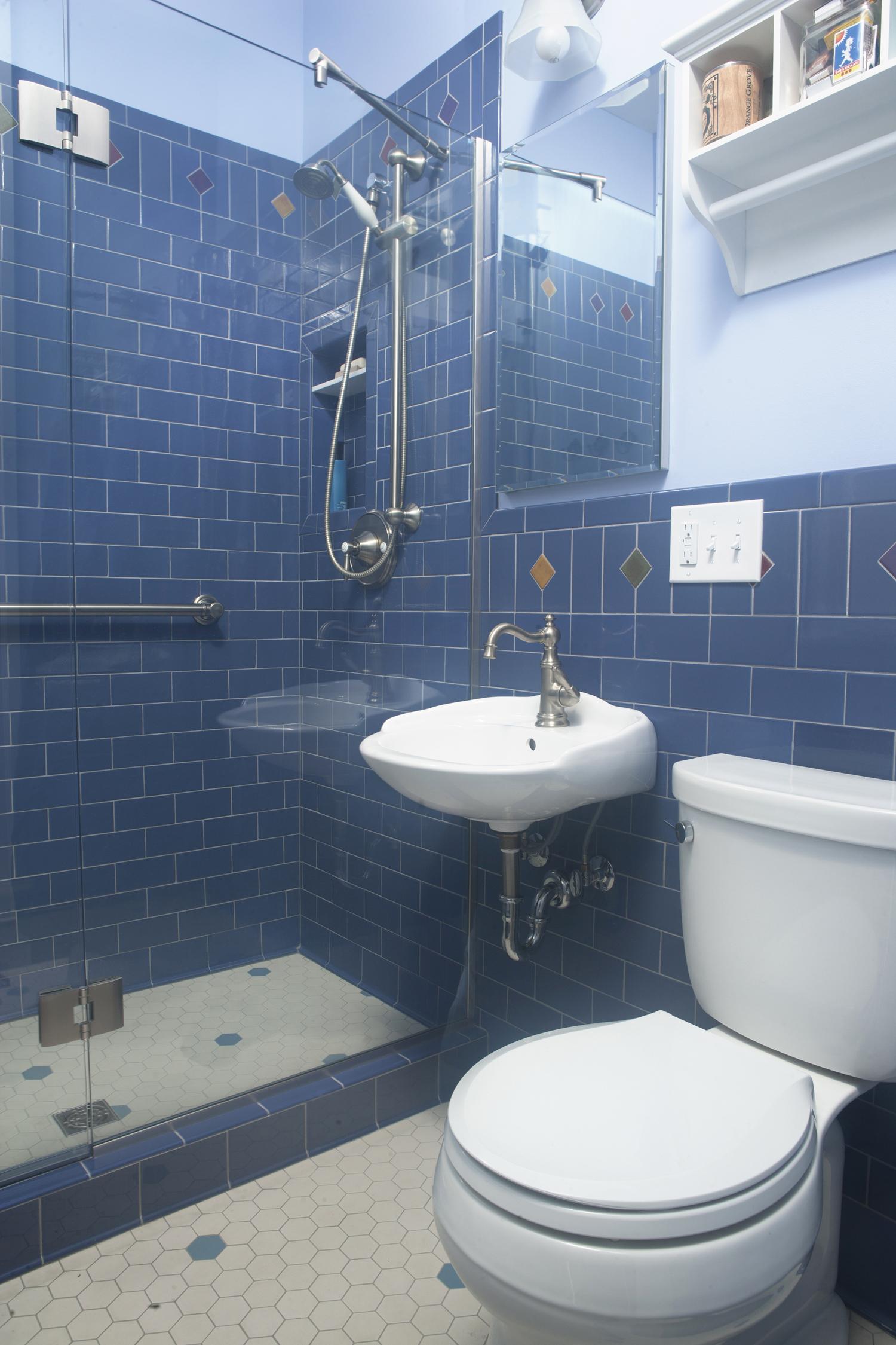 Blueberry Subway Nirvana Bathroom Tile Floor And Walls