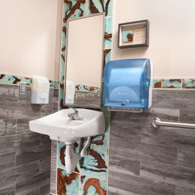 Brown Contemporary Bathroom Milkyway Accent Coop Cosmic Copy