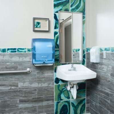 Green Contemporary Bathroom Andromeda Cosmic Strip Coop Corner