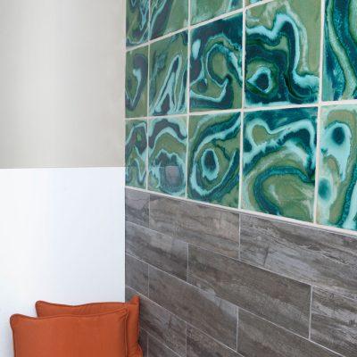 Green Contemporary Bathroom Mural Coop Cosmic Perspective Copy