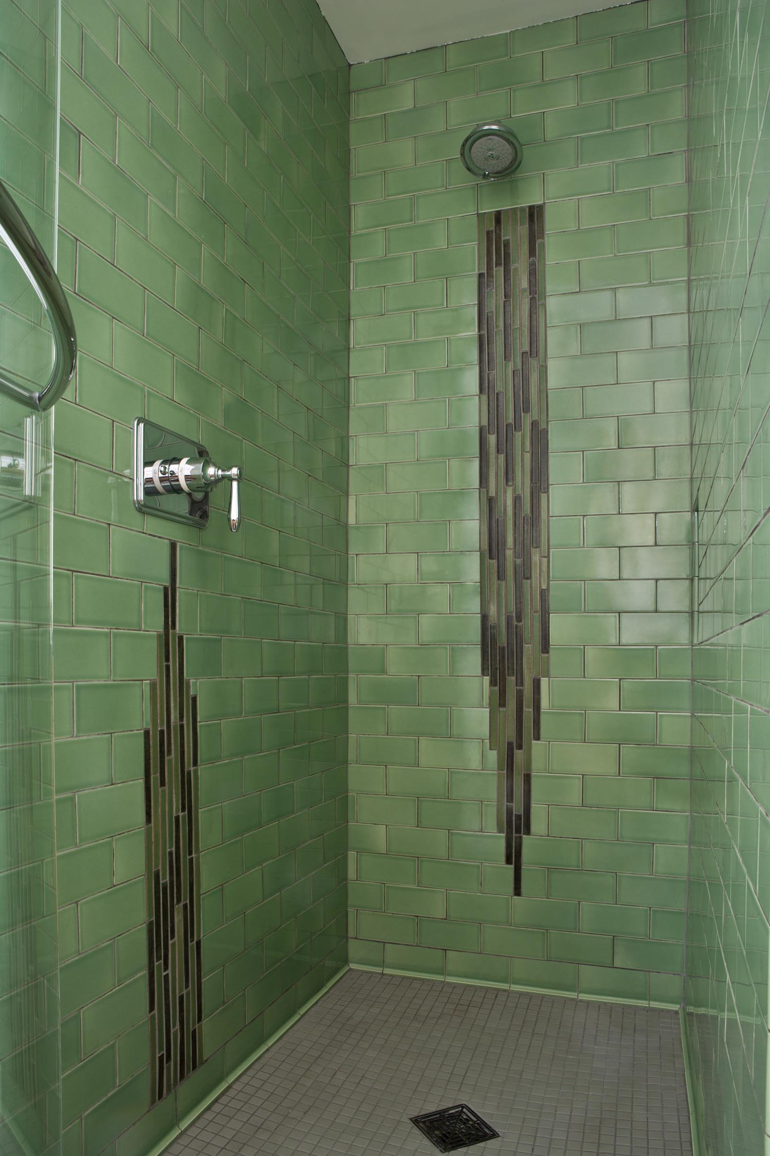Green Modern Bathroom Tile Waterfall Hero