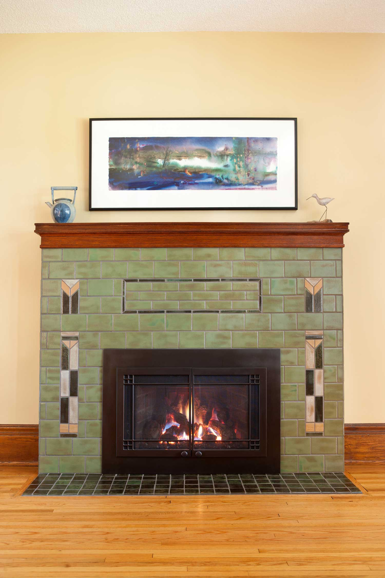 Prairie Arts Amp Crafts Fireplace Clay Squared To Infinity