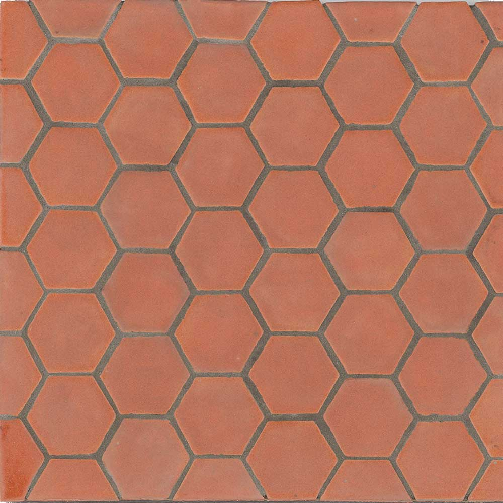 Hexagon Tomato Bisque Color Shape Tile