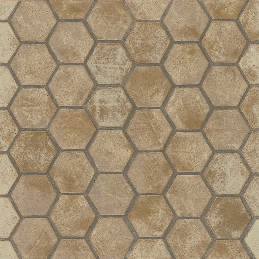 Hexagon Truffle Color Shape Tile