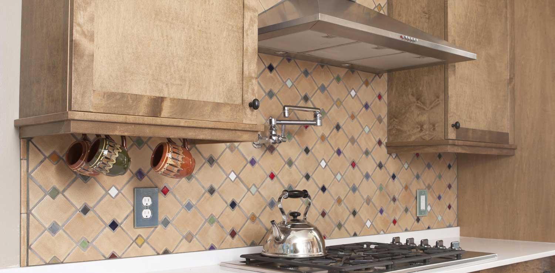 Oatmeal Mid Century Kitchen Tile Zig Zag Hero