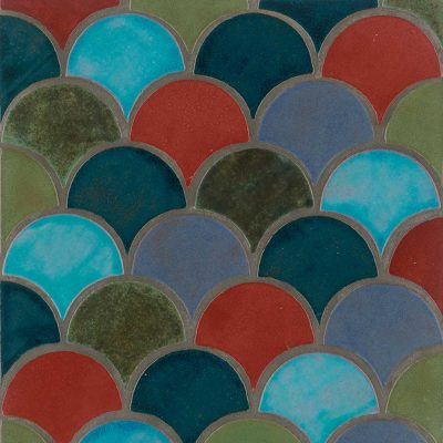 Peacock Multi Color Shape Tile