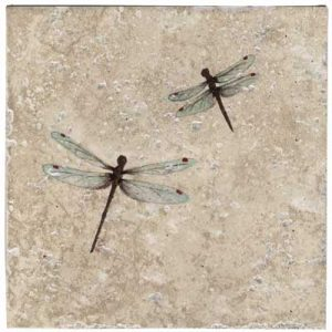 Stephanie Double Dragon Fly 6 Inch Tile