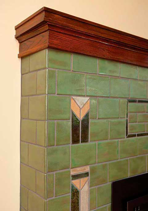 Prairie Arts & Crafts fireplace