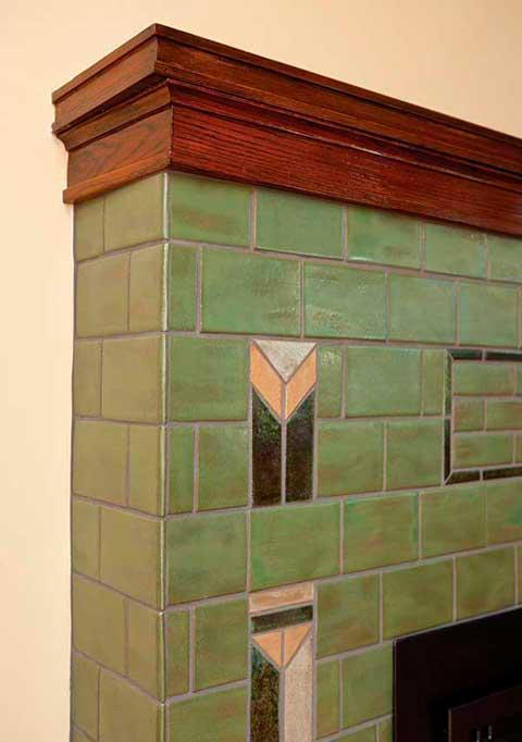 Prairie Arts & Crafts fireplace