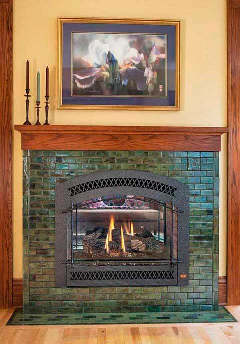 The Hawthorn fireplace in Jade Moss