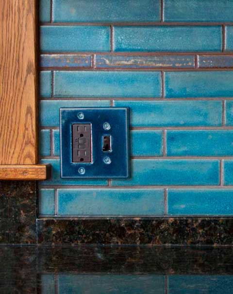 Ceramic switch plate detail
