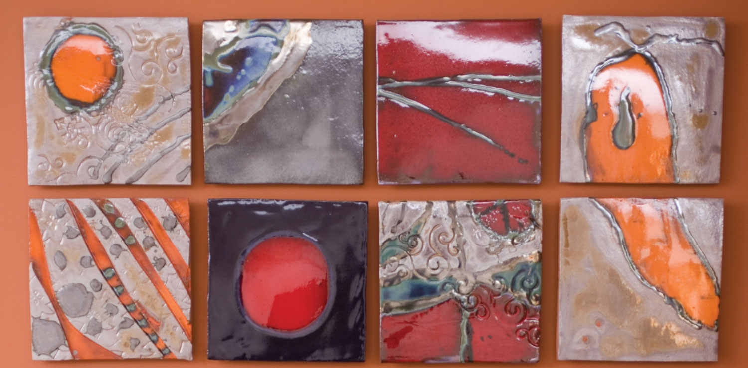 Red Silver Blue Contemporary Cosmic Cloud Mural Bean 24 Straight Hero