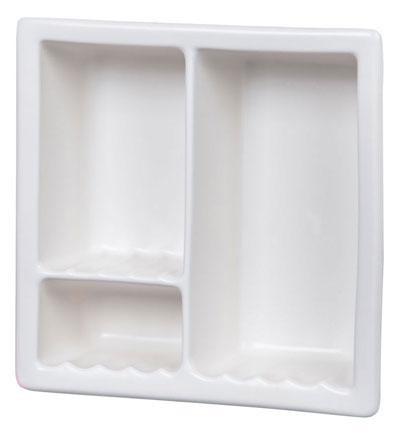 793 Recessed Shampoo Soap Holder 3 L White