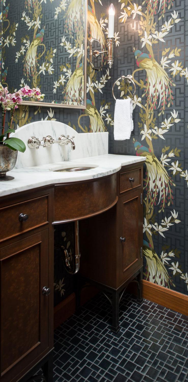 Silver Mosaic Tile Bathroom