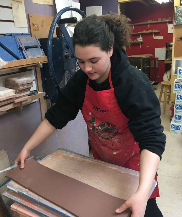 Fiona Making Tiles