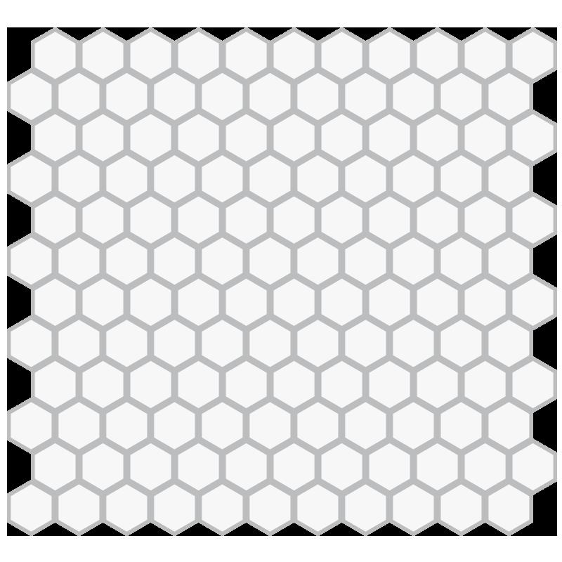 Mosaic Floor Hex Pattern 1in