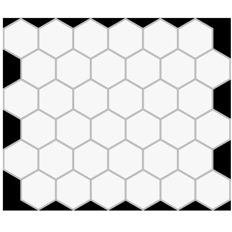 Mosaic Floor Hex Pattern 2in