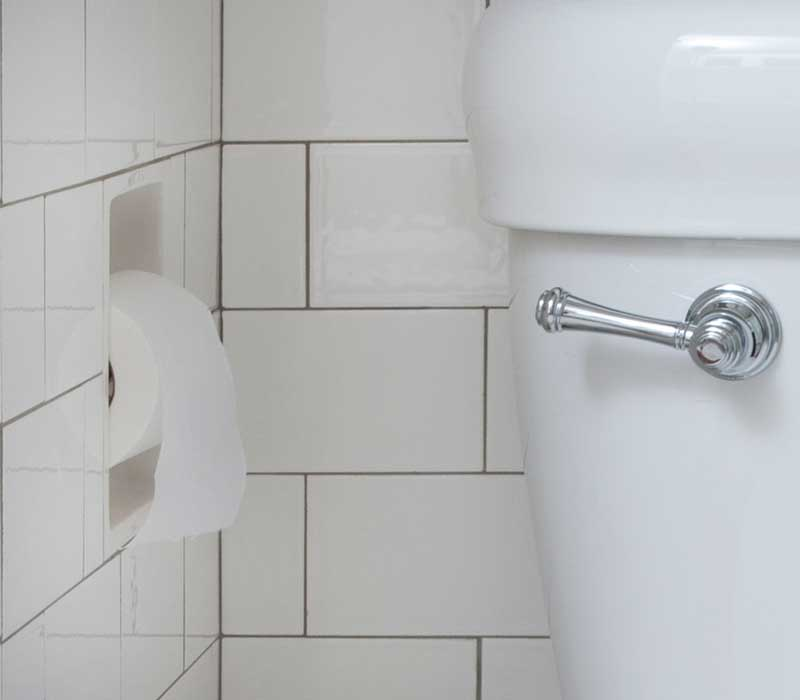 Flat Edge Toilet Paper Holder