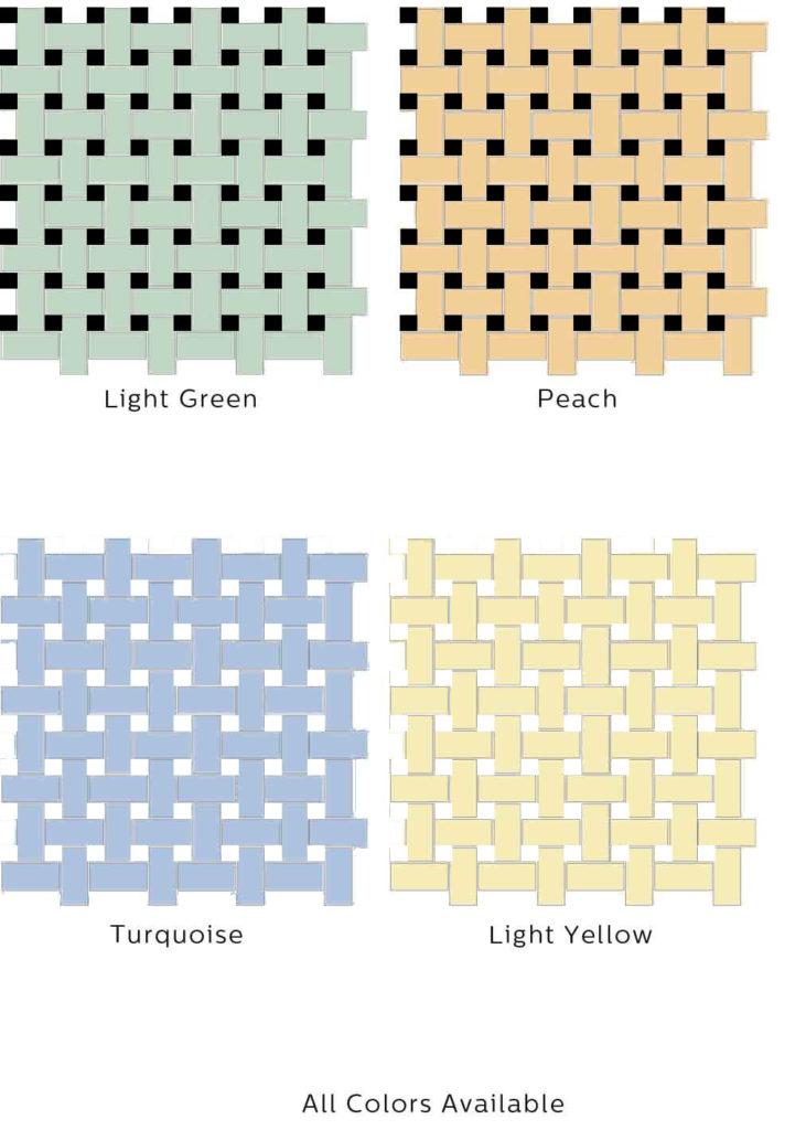 1x2 Basketweave Color