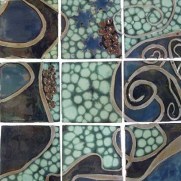Cosmic Collection Handmade Tile
