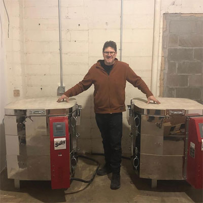 Josh With 2 New Kilns