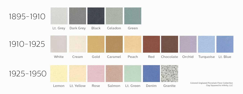 Unglazed Porcelain Floor Colors