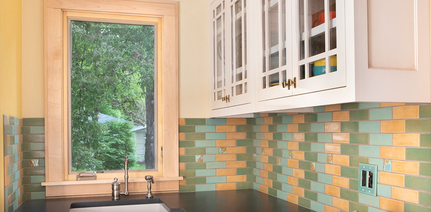 Impressionist Tile Kitchen Backsplash