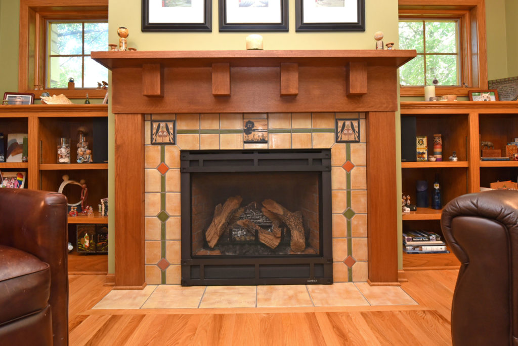 Fireplace Straight On Coffee Cake
