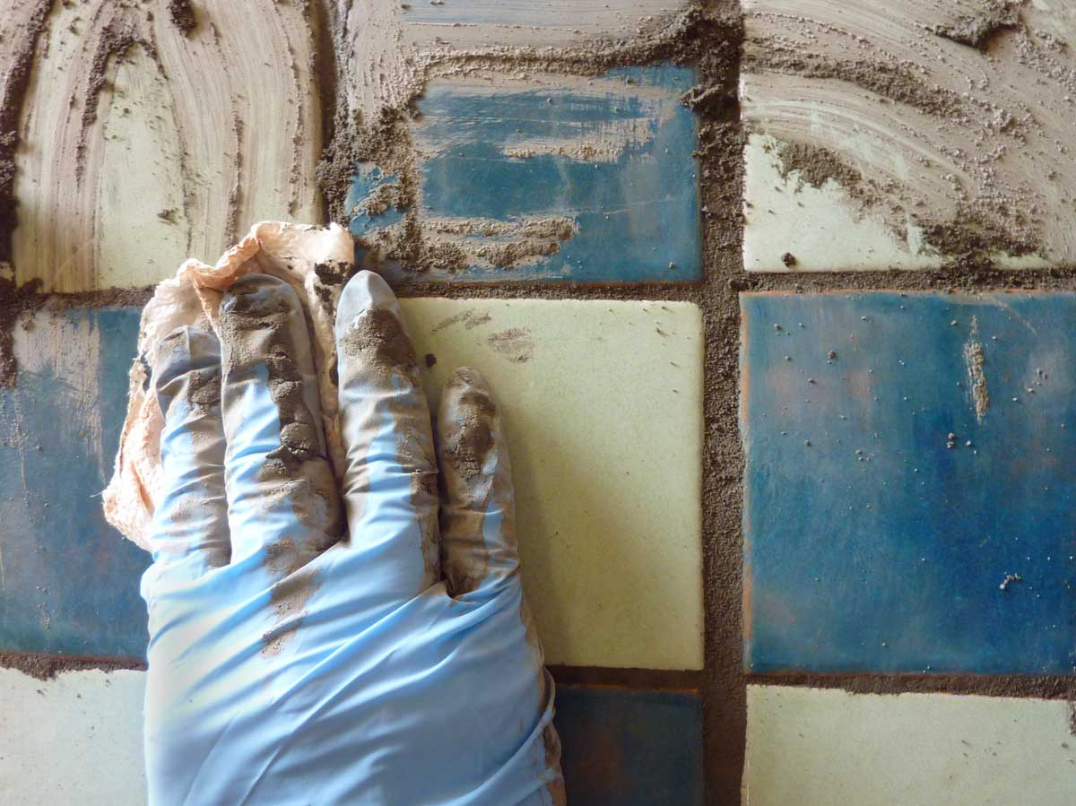 DIY Tile Grouting