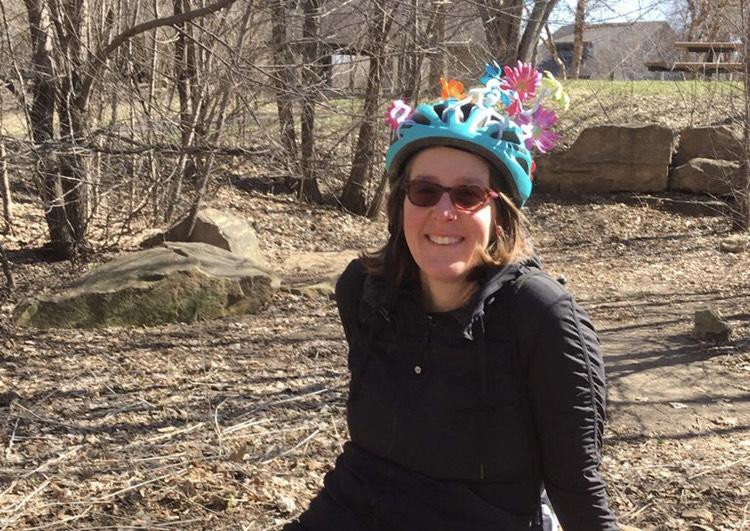 Layl With Crazy Helmet