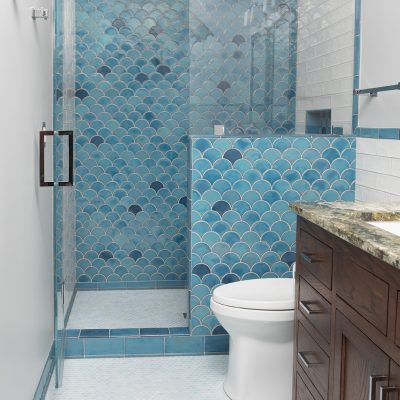 Robins Egg Blue Modern Bathroom Tile Peacock Full Small