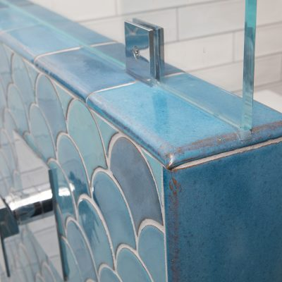 Robins Egg Blue Modern Bathroom Tile Double Bullnose